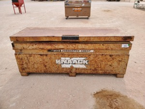 Knaack Storage Box with miscellaneous lifting chains and cables