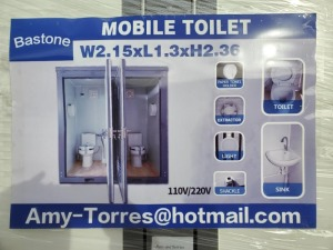 Unused Bastone 110v Portable Toilets with Double Closestools
