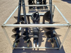 Unused Greatbear Skid Steer Auger Attachment with 3 digging bits 10'' 13'' 20''