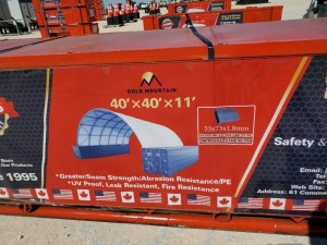 Unused Golden Mountain Dome Container Shelter W40ft x L40ft